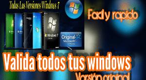 Válida tu Windows 7- la manera mas fácil y rápida 🚀