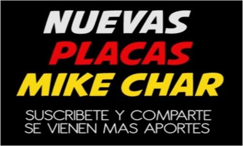 Pack de placas Mike Chard 2020 las mas sonadas
